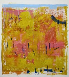 Roundwoods - 150 x 150 cms mixed media