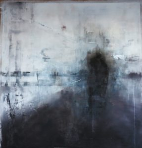 all that remains - 155 x 155 cms oil on paper
